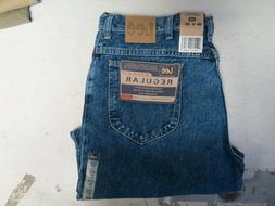 MENS LEE JEANS REGULAR FIT PEPPER STONE BLUE NWT 38X30 FREE