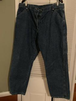 Mens Jeans Wrangler Relaxed Fit Carpenter Pants Size 38 X 30