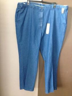 MENS HAGGAR JEANS SIZE 52X31 NWT $65 MED BLUE STRAIGHT LEG S