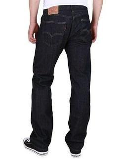 Mens Levi 505 Regular Fit Straight Dark Blue Jeans 33 x 34 N