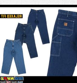 Carhartt Mens Loose Original Fit Work Jean Stone Washed MIdw