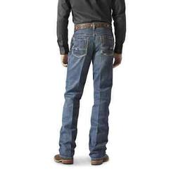 Ariat Mens M4 Relaxed Fit Gulch Low Rise Boot Cut Jeans