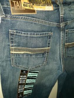 Mens NEW 33/38TALL ~ARIAT M5 Slim Straight~ Denim Blue Jeans