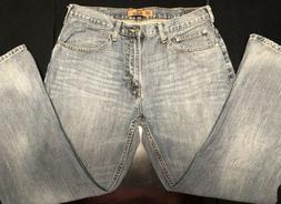 Wrangler Men's Relaxed Fit Bootcut Flex Blue Jeans 34x30
