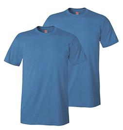 Hanes mens 4.5 oz. 100% Ringspun Cotton nano-T T-Shirt-Denim