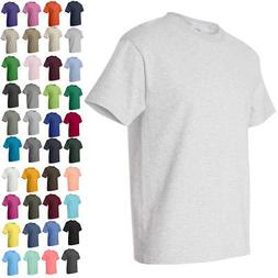 Hanes Mens Short Sleeve Crewneck Tees Tops Shirts Beefy-T 51