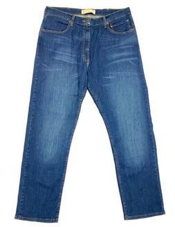 Wrangler Men's Size 36x32 Jeans Relaxed Fit Blue Flex Deni