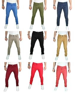 Mens Skinny SLIM FIT STRETCH jeans SLIM FIT Trouser Pants Ca