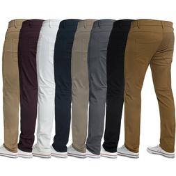 KRUZE Mens Slim Fit Chinos Jeans Skinny Stretch Trousers Pan