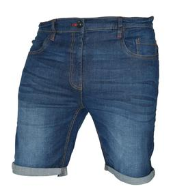 Mens Stretch Denim Chino Shorts Casual Flat Front Slim Fit S