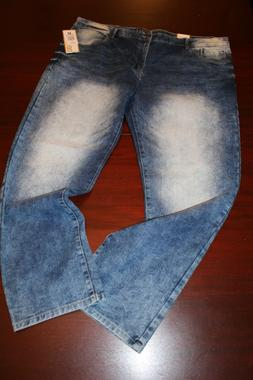 mens southpole stretch jeans 44x32 nwt med faded sanded