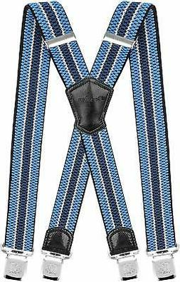 Decalen Mens Suspenders Very Strong Clips Heavy Duty Braces