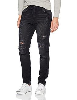 True Religion Men's Mick Racer Moto Jean, Worn Nights, 31