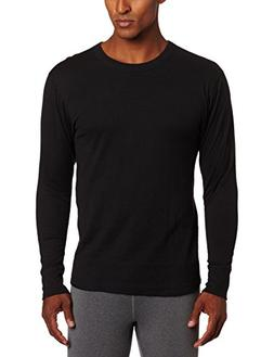Duofold Men's Mid Weight Wicking Crew Neck Top, Black, Large