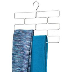 mDesign Modern Metal Closet Rod Hanging Accessory Storage Or