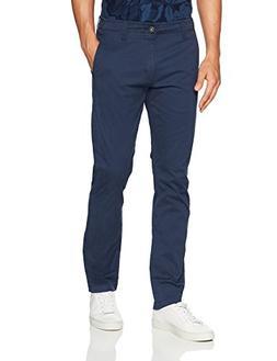 LEE Men's Modern Series Slim Chino Pant, Navy, 29W x 30L