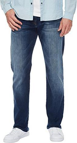 Mavi Jeans  Men's Myles Mid-Rise Straight Leg in Dark Used W
