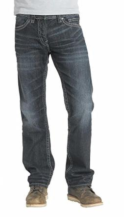 Silver Jeans Men's Nash Classic Fit Straight Leg Jeans, Dark