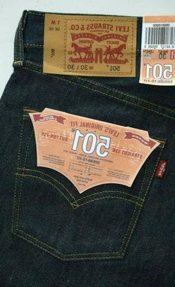 NEW 501 Levi's Men's Jeans 100% Cotton SHRINK TO FIT : 00501