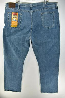 New Wrangler Advanced Comfort Relaxed Fit Mens Denim Flex Bl