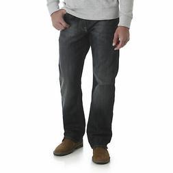 Wrangler NEW Blue Men's Boot Cut Leg Relaxed Comfort Fit Mid