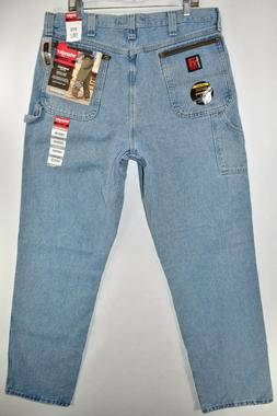 New Riggs Workwear Wrangler Carpenter Durashield Work Blue J