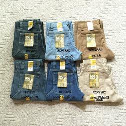 New Lee Carpenter Jeans Dungarees Denim Straight Loose Fit M