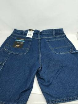 New Dickies Carpenter Work Jeans Shorts Sz 38 Blue