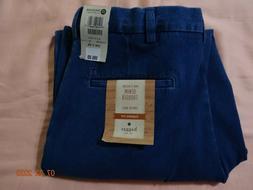 new classic fit comfort waist denim pleated