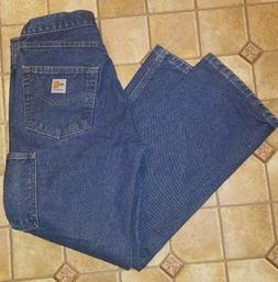NEW Carhartt FR Flame Resistant Denim Dungaree Jeans Men's
