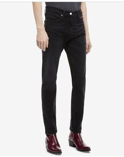 New Calvin Klein Jeans Men's 33Wx30L Denim Black Athletic Fi