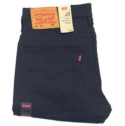 New Levi's 511 Slim Fit 5-Pocket Chino Pant 'Nightwatch' Blu