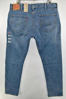 New Levi's 512 Slim Taper Fit Tapered Stretch Blue Jeans Men