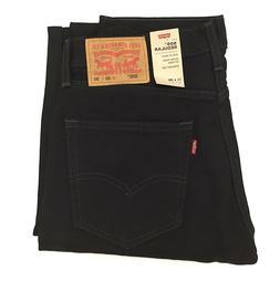 New Levi's Men's 505 Regular Fit Denim Jeans Black Wash 100%