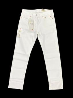 NEW Levi's Strauss 511 Slim Flex Stretch White Mens Denim Je