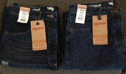 New Lot of 2 Men's Wrangler Relaxed Fit Flex Jeans Straight
