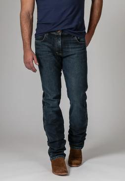 New Wrangler Made in USA Slim Fit Jeans Tennessee Wash 12 oz