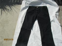 new Men 38 x 32 Regular Dickies Black Jeans 100% Cotton 0293