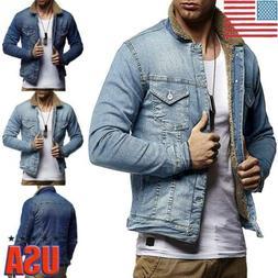 New Men Causal Jacket Denim Vest Jean Coat Cool Collar Sleev