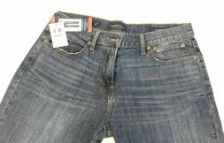 NEW Men's LUCKY BRAND 221 Original Straight Delmont Jeans Si