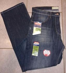 New Wrangler Men's 32x30 Straight Fit Leg Dark Blue Jeans w/