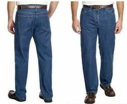 New Kirkland Signature Men's 5-Pocket Blue Jeans, Medium Was