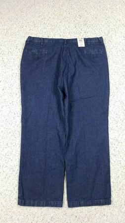 NEW Haggar Men's Classic Fit Dark Wash Trouser Blue Jeans 44
