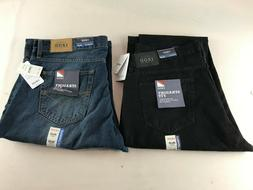 NEW Men's IZOD Comfort Stretch Straight Fit Jeans 38 X 30 Bl