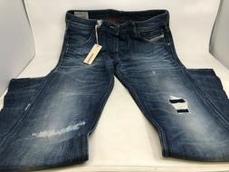 NEW! Men's DIESEL Jeans - Krayver 0840J - Regular Slim Carro