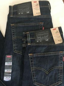 NEW Men's Levi's 511 Slim Fit Stretch Jeans, Color: Blue - R