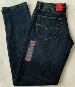 NEW Men's Levi's 511 Slim Fit Stretch Jeans, Color Blue, Siz