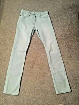 NEW ~ CALVIN KLEIN men's light wash skinny blue jeans with b