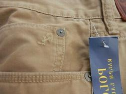 NEW men's RALPH LAUREN POLO tan pants jeans 46 B x 32