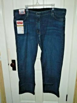 New Wrangler Men's Relaxed Fit Jean with Comfort Flex Waistb
